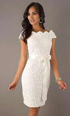 Rehearsal dress Short Lace Dress with Tied Waist Wedding Attire, Wedding Gowns, Wedding Shower Dresses, Bridal Shower Outfits, Wedding Showers, Wedding Bridesmaids, Bridesmaid Dress, Wedding Reception, Jw Mode