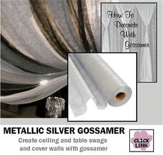 #Gossamer is a great way to decorate walls and ceilings with color and draping effects.
