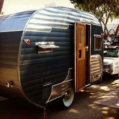 Image result for black vintage travel trailer