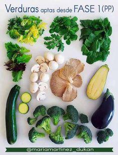 Dieta Dukan: Verduras aptas desde fase 1 (Ataque) y para días de Proteína Pura Ginger Ale, Low Carb Recipes, Healthy Recipes, Menu Dieta, Brunch, Snacks, Vegan, Food And Drink, Keto
