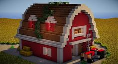 Minecraft Builder: very realistic farm, . - Explore the best and the special ideas about Minecraft Buildings Minecraft Farmen, Casa Medieval Minecraft, Construction Minecraft, Minecraft House Plans, Minecraft Cottage, Easy Minecraft Houses, Minecraft House Tutorials, Minecraft Houses Blueprints, Minecraft House Designs