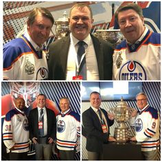 @DrRobAndrew's Sunday night with @WayneGretzky @GrantFuhr #JariKurri & Glenn Anderson what a night  @RogersPlace