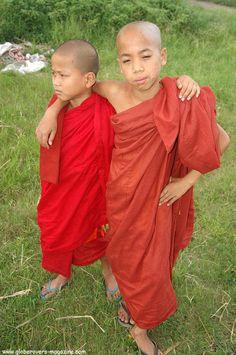 Novice Monks, Nyaungshwe, Myanmar