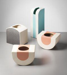 ETTORE SOTTSASS JR, Group of four vases, model nos. 451, 452, 454