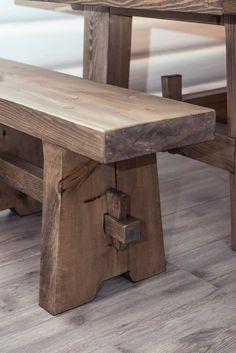 Top 10 Easy Woodworking Projects zu machen und zu verkaufen - New ideas Rustic Log Furniture, Timber Furniture, Diy Outdoor Furniture, Diy Furniture Projects, Wood Projects, Rustic Wood Bench, Wood Joinery, Wood Creations, Easy Woodworking Projects