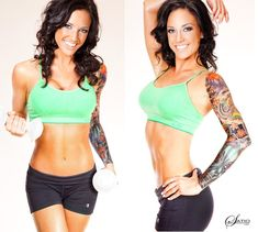@Anna Totten n Phillips...reminds me of you.  Fitness Model Melissa Larsen...you probably already seen her though!