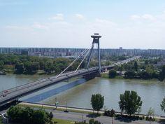 Novy Most d - Cable-stayed bridge - Bratislava, Cable Stayed Bridge, Asia, Street, Bridges, Travel, Distance, Google, World