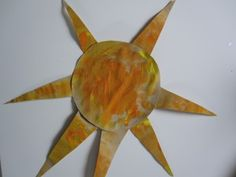 Sandpaper sun- painting is always fun especially on such a new texture.