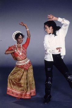 MJ with Devika (Sri Lankan dancer) in Black or White