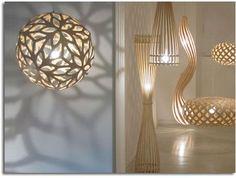 lámpara realizada con materiales naturales.19bis.com