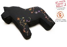 hannah and lynn: dala horse lounge pillow