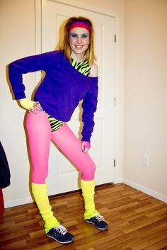 My do-it-yourself Halloween costume, Rhonda, the 80s Jazzercise queen.