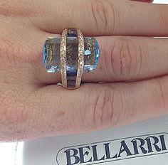 bellarri aquamarine ring. Amazingly unique cut. Gabriel Fine Jewelers in Modesto, Ca. 209-529-2110