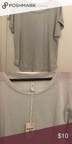 NWT Gray Poof T-Shirt NWT Gray Poof TShirt in large. Super cute and soft! Poof Tops Tees - Short Sleeve