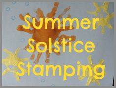 Celebrate summer solstice with botanical stamps, hand stamps & potato stamps!