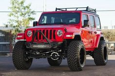 Shop our wide selection of aftermarket & off-road bumpers. Offering high-quality truck bumpers for nearly every type of truck on the road. Jeep Wrangler Sport Unlimited, Jeep Wrangler Rubicon, Jeep Wranglers, Red Jeep, Jeep Jl, Toyota Trucks, Lifted Trucks, Aftermarket Truck Parts, Badass Jeep