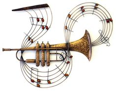 Music Metal Wall Art - Trumpet Notes