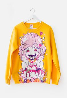 Just love to Kawaii Fashion. Harajuku Fashion, Kawaii Fashion, Cute Fashion, Fashion Outfits, Ddlg Outfits, Pastel Fashion, Womens Fashion, Earl Sweatshirt, Graphic Sweatshirt