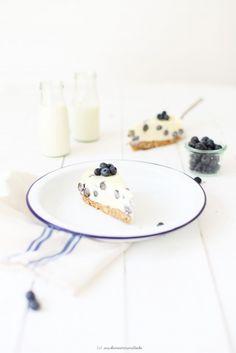 White Chocolate Cheesecake mit Blaubeeren <3 ....