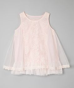 This Pink Floral Lace Dress - Toddler & Girls by Sweet Charlotte is perfect! #zulilyfinds