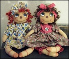 "Download Flower Child - Rag Doll 14""inch Sewing Pattern 