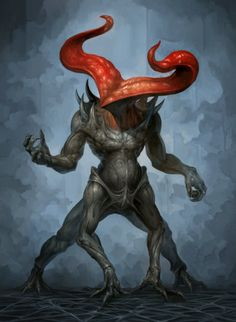Creatures from Dreams Monster Concept Art, Alien Concept Art, Creature Concept Art, Fantasy Monster, Monster Art, Creature Design, Fantasy Creatures, Mythical Creatures, Lovecraft Cthulhu
