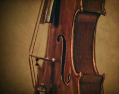 Perfil fotografía de arte fino instrumento Musical música foto grabado música clásica habitación decoración música amante regalo Idea naturaleza muerta del violín