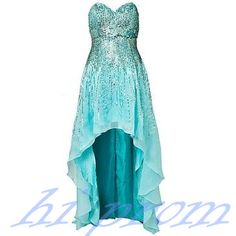 Blue Homecoming Dress,High Low Homecoming Dresses,High low Homecoming