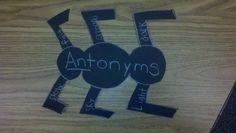 ANTonyms - my idea for teaching antonyms :o)
