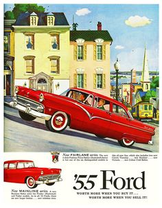 1955 Ford Print Ad This was my first car - presented by Leibert Marshall to me at the age of It is without a doubt the sweetest ride I have owned. Luxury Sports Cars, Ford Sports Cars, Sport Cars, Lamborghini, Ferrari, Old Advertisements, Car Advertising, Advertising History, Posters Vintage