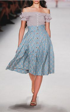 The Austrian-born designer has established an unmistakable aesthetic of ladylike silhouettes in rich tapestry prints. Transporting her signature to the South of France, Spring's 'En Provence' collection sees airy peasant blouses and breezy floral sundresses for a romantic, bohemian take on that enviable French nonchalance.