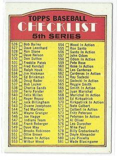 1972 TOPPS CHECKLIST 5TH SERIES CARD #478