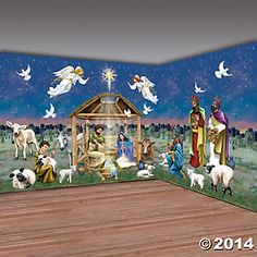 Religious: Vinyl Design-A-Room Nativity Pack 30 Feet Party Supplies Canada - Open A Party