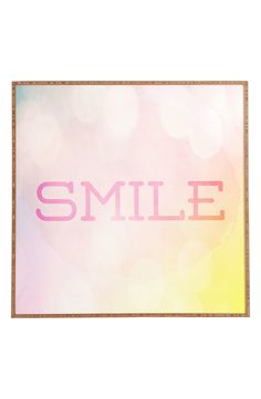 This adorable wall décor is the perfect reminder to start everyday off with a smile.