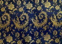 Stoff Blumen - 50 x 90 CM ! Herrliche Brokat Stoff gewebt feine - ein Designerstück von hibou_2 bei DaWanda