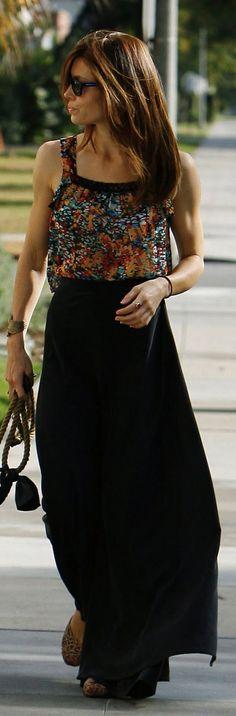Little Petite: Black maxi skirt