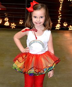 This White Rainbow Tank & Rainbow Pettiskirt - Toddler & Girls is perfect! #zulilyfinds