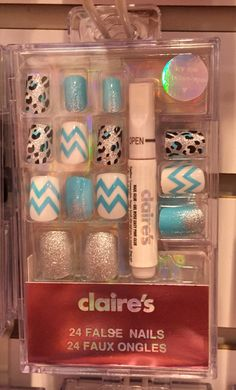 Shop Claire's for the latest trends in jewelry & accessories for girls, teens, & tweens. Claire's Fake Nails, Fake Nails For Kids, Kiss Nails, Swag Nails, Nail Art Diy, Cool Nail Art, Cute Acrylic Nails, Cute Nails, Nail Rose