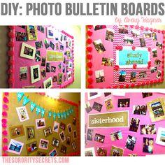 Photo Bulletin Boards {DIY}
