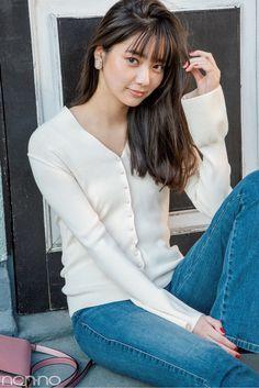 新川優愛が2019年にしたいおしゃれ&ヘアスタイルを発表! | non-no Web | ときめくおしゃれを毎日GET! Beautiful Japanese Girl, Japanese Beauty, Beautiful Asian Women, Asian Beauty, Petty Girl, Japan Girl, Cute Woman, Cute Girls, Asian Models
