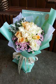 ChampageneRose,#CreamRose,#米兰,#Flower,#HandBouquet,#MilanStyle, #MFMA 米兰花屋 Milan Florist Mount Austin Tel:016-7677027/016-7704487 www.milanflorist.com.my