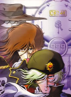 Tochiro, Captain Harlock and Commander Leopold - Space Symphony Maetel