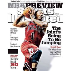 Derrick Rose on the cover of the regional Sports Illustrated NBA Preview issue