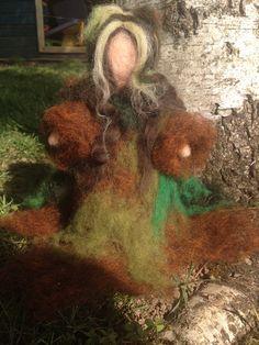 Ninfa dei boschi o fata dei boschi in lana di CreazioniMonica