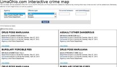 Interactive database of crime in Lima area