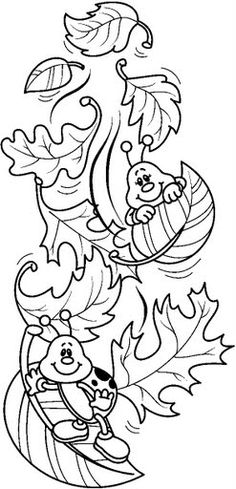 otoño para los niños - Google keresés Fall Coloring Pages, Adult Coloring Pages, Coloring Sheets, Coloring Books, Art Drawings For Kids, Drawing For Kids, Cute Drawings, Card Sentiments, Autumn Crafts