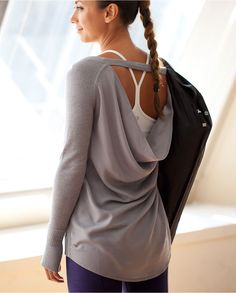 lululemon {Unity Pullover} Time for some new workout attire Workout Attire, Workout Wear, Post Workout, Workout Tops, Mode Style, Style Me, Gym Style, Urban Outfit, Estilo Fitness