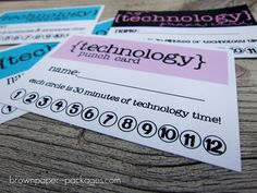 brown paper packages: {technology punch cards}