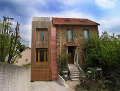 Extension en bois HQE, Arcueil, T Design Architecture - Realisation Side Extension, Architecture Design, Exterior, Mansions, Studio, House Styles, Outdoor Decor, Image, Recherche Google