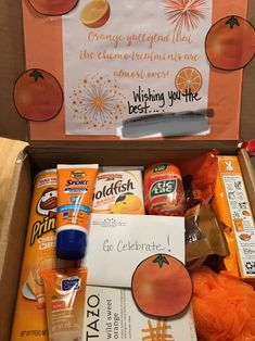 A fun gift for a friend going through her last chemo treatment. Orange you glad! - May 21 2019 at Cute Birthday Gift, Birthday Gifts For Best Friend, Diy Birthday, Best Friend Gifts, Birthday Presents, Ideas For Birthday Gifts, Cute Gifts For Friends, Mother Birthday Gifts, Surprise Boyfriend Gifts